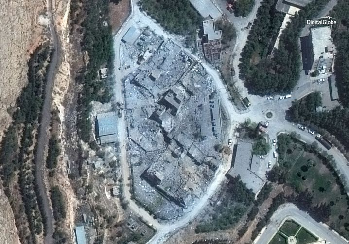 SSRC-Zentrum nach dem Luftangriff