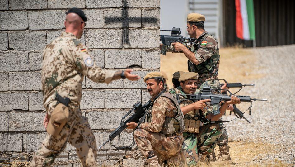 Soldat der Bundeswehr bei der Ausbildung irakischer Kräfte in Erbil (Foto von 2019)