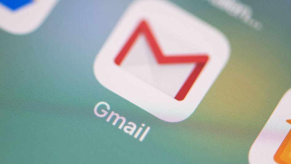 Das Icon der Gmail-App auf einem iPhone