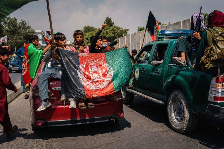 An anti-Taliban protest in Kabul last Thursday