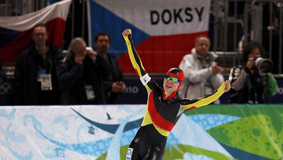 Eisschnellläuferin Beckert: Silber über 5000 Meter