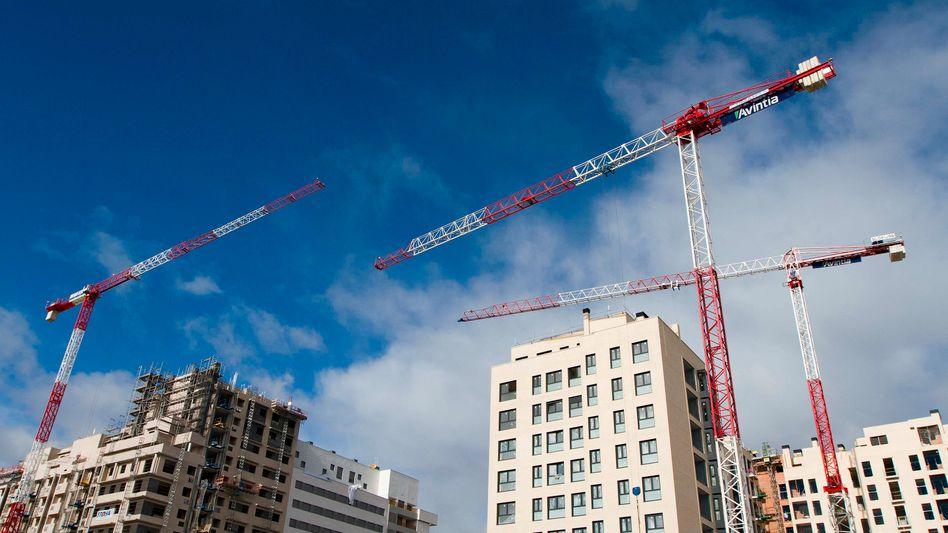 Bauarbeiten in der Nähe von Madrid: Spanien im Aufwind