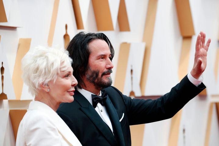 Keanu Reeves mit seiner Mutter Patricia Taylor