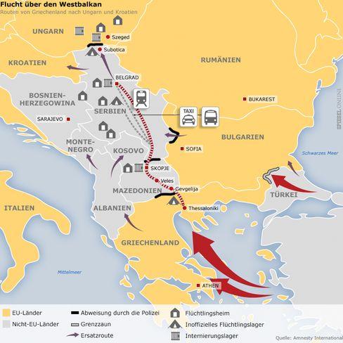 Route über den Balkan: Immer mehr Menschen auf der Flucht