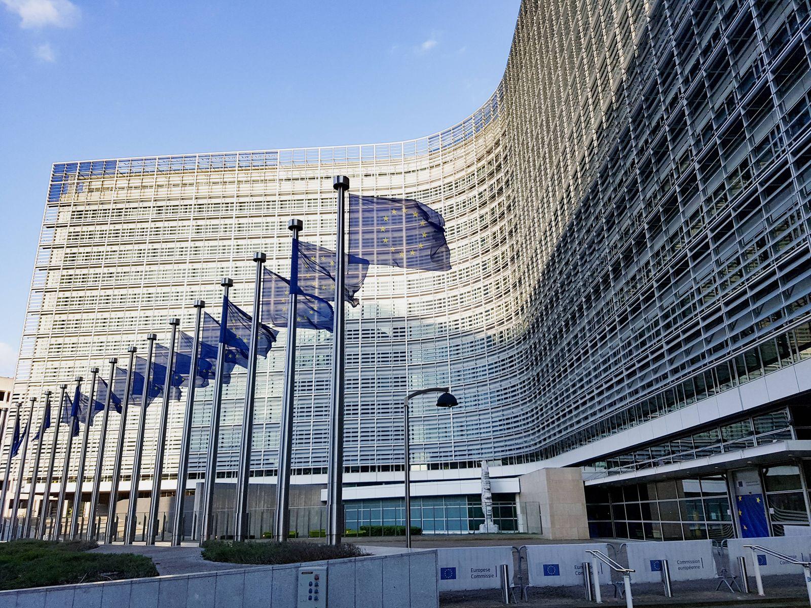 Brüssel Europäische Union EU - Regierungsviertel - Gebäude Europäische Kommission - Berlaymont-Gebäude - Kommissionsgebä