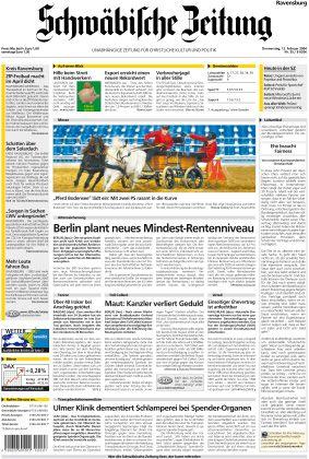 """Leicht erregbar: Die """"Schwäbische Zeitung"""" (Abb.: Demo-Version des e-papers)"""