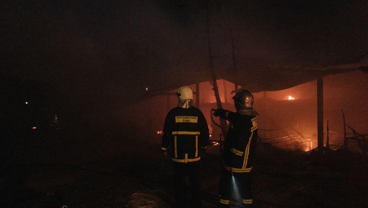 Brand in Flüchtlingszentrum