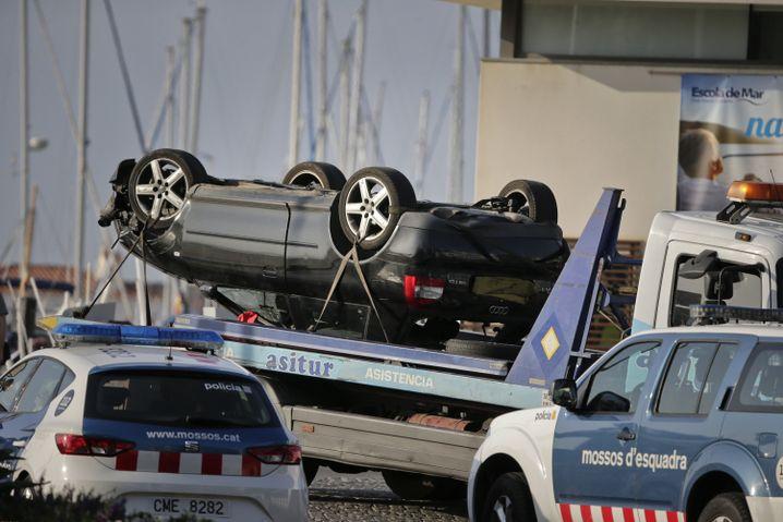 Auto der mutmaßlichen Terroristen in Cambrils
