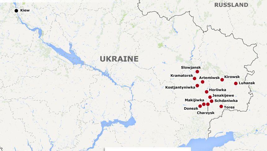 Offensive gegen Separatisten: Ukraine meldet vieleTote bei Angriff auf Slowjansk