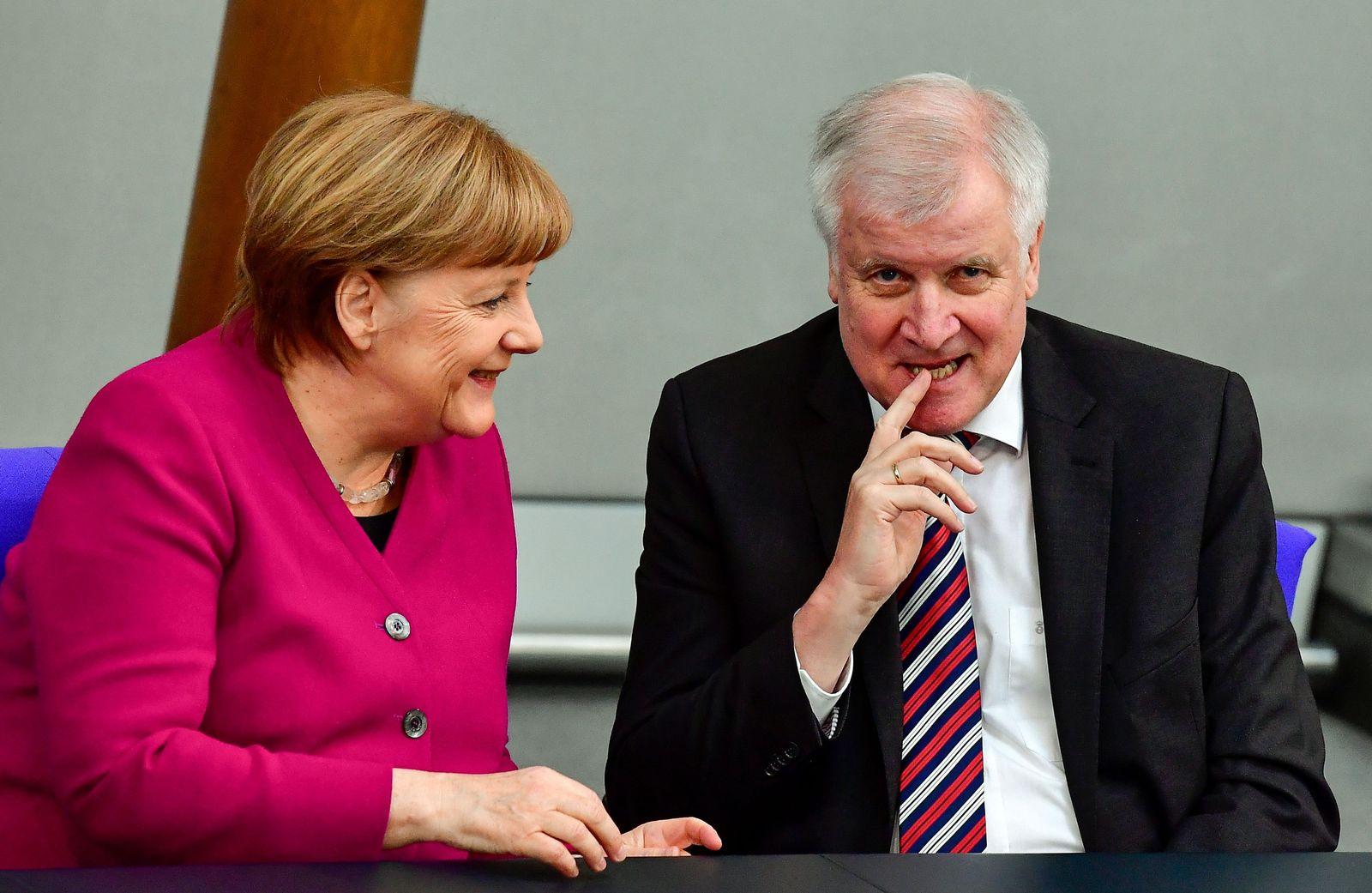Angela Merkel/ Regierungserklärung/ Seehofer