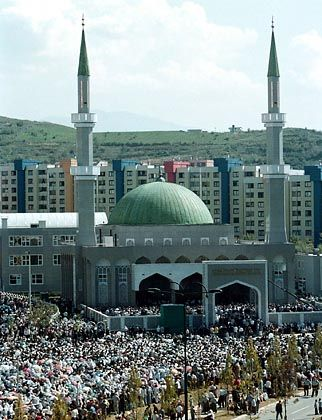 A mosque in Sarajevo: Bosnia has seen a surge in its Muslim population of al-Qaida sympathizers.