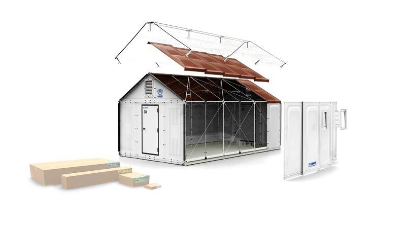 In Kartons geliefertes Haus: Modell Better Shelter von Ikea