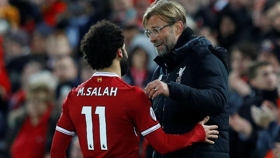 Mohamed Salah und Jürgen Klopp