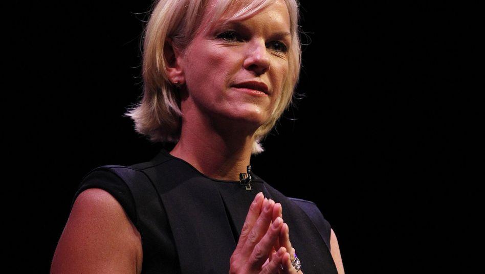 Elisabeth Murdoch bei ihrer Rede: Bewerbung für den Chefposten bei News Corp.