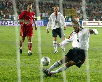 David Beckham beim Elfmeter: Im Training so einfach