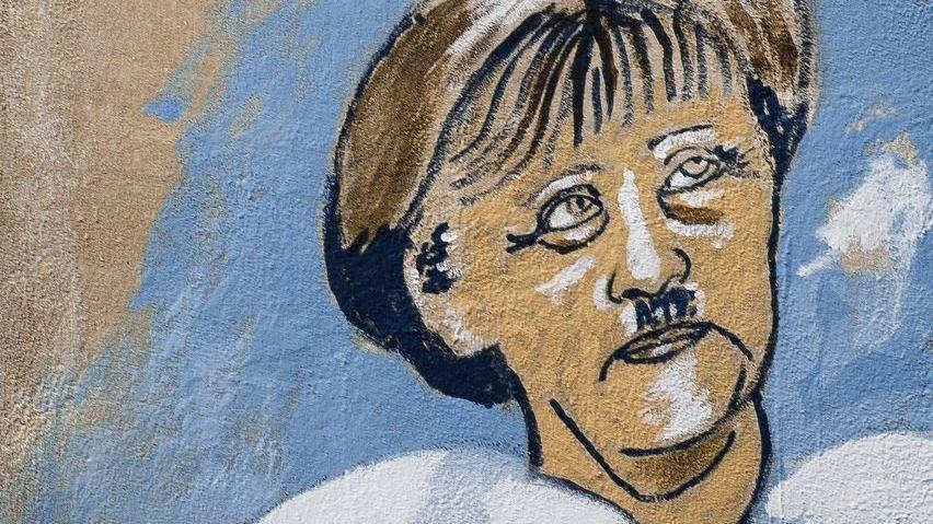 Merkel-Graffito in Athen Eine Flut von Karikaturen