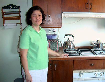 """Catherine Chin, 44, in ihrer Küche: """"Schock an der Supermarktkasse"""""""