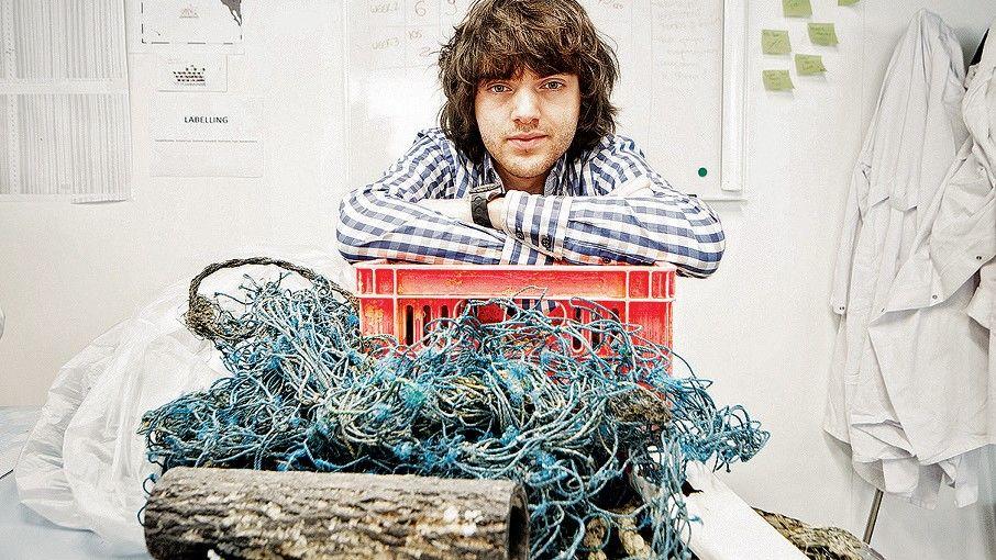 Der Müllfischer Der Niederländer Boyan Slat, 24, begann im September vor San Francisco mit seinem »Ocean Cleanup«