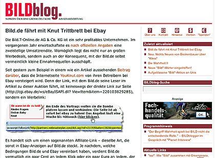 """Medienwatch-Blog: """"Die 'Bild'-Zeitung weltweit ein Sonderfall"""""""