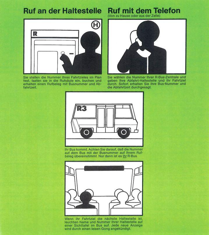 Infomaterial von Rufbussystemen