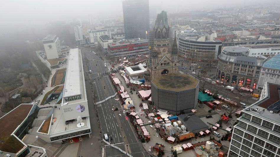 A general view of the scene of the attack in Berlin