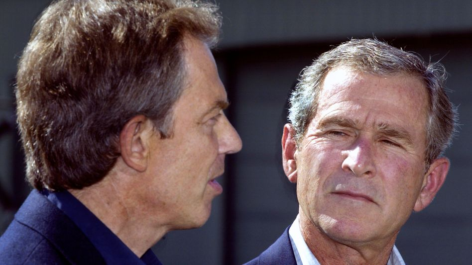 Tony Blair, George W. Bush (2002)