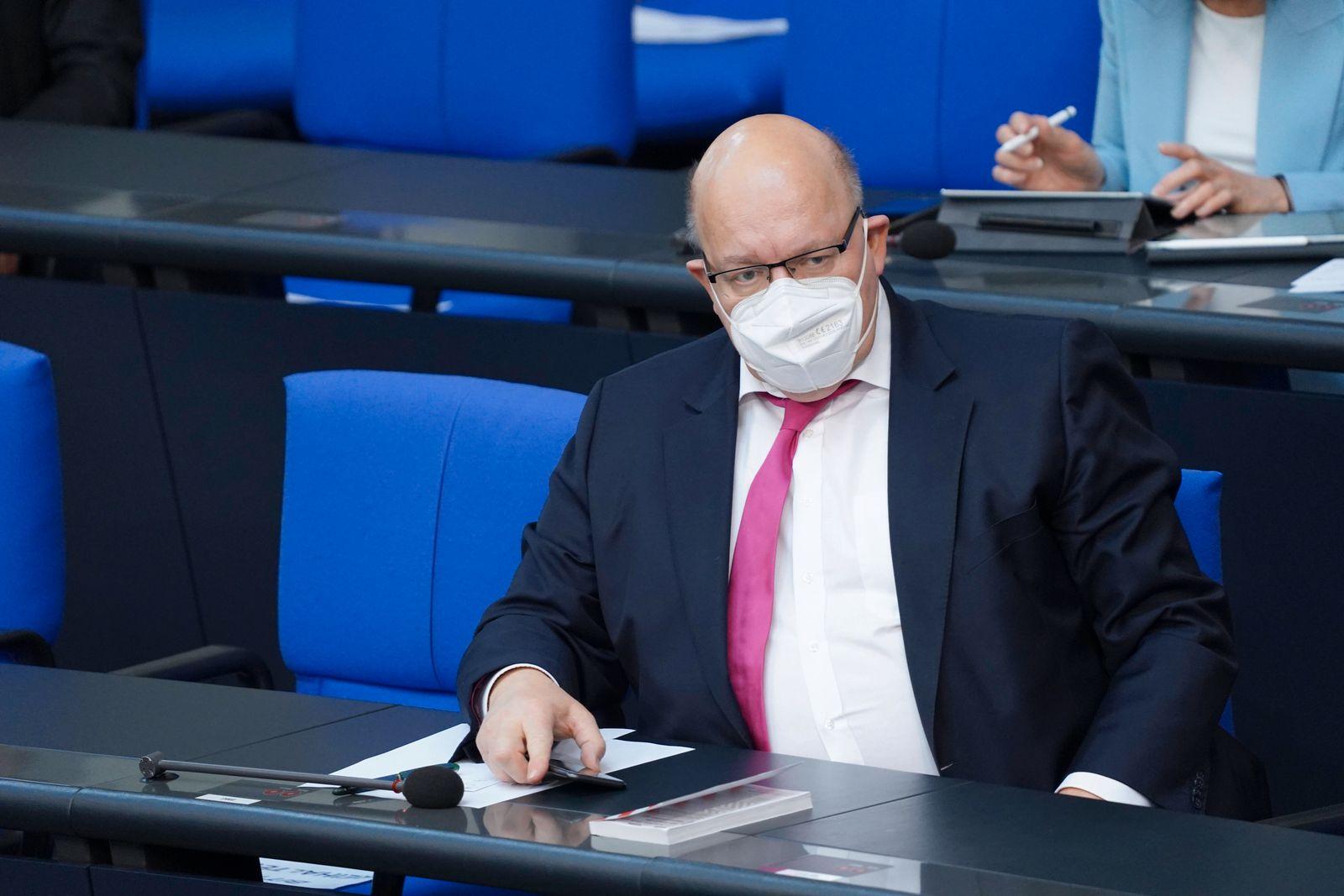 Deutscher Bundestag, 231. Sitzung Plenum und Debatte Aktuell, 21.05.2021, Berlin, Peter Altmaier der Bundesminister fue
