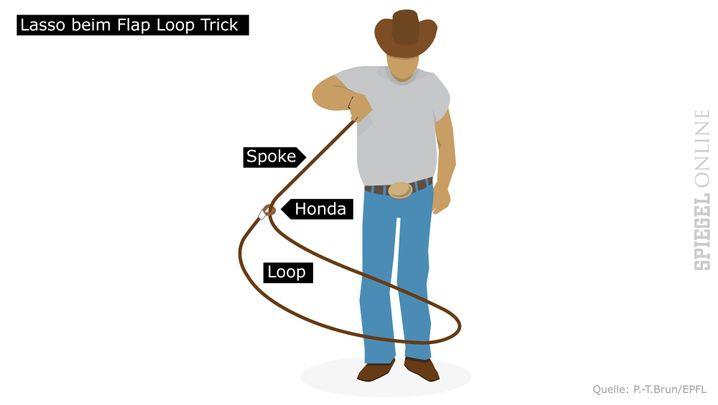 Lasso-ABC: Die Öse (Honda) trennt Seilende (Spoke) und Schlinge (Loop)