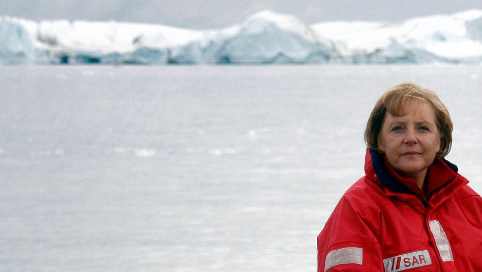 Damals noch Klimakanzlerin: Angela Merkel 2007 in Grönland
