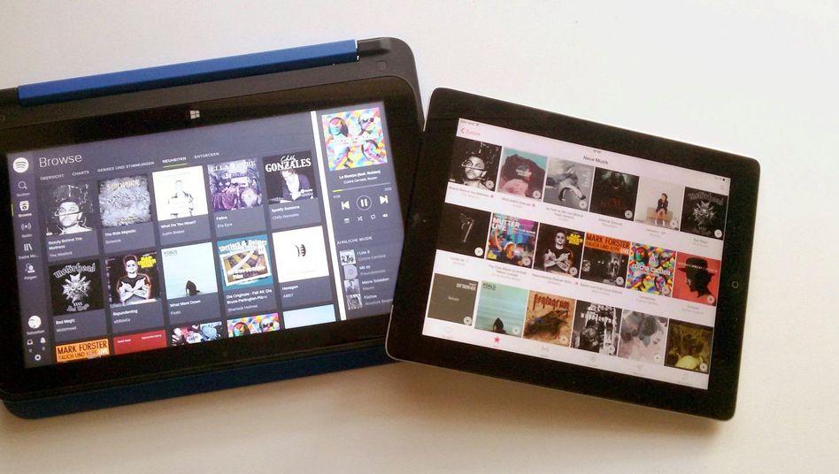 Tablets mit Spotify und Apple Music: Die Testabos verlängern sich automatisch