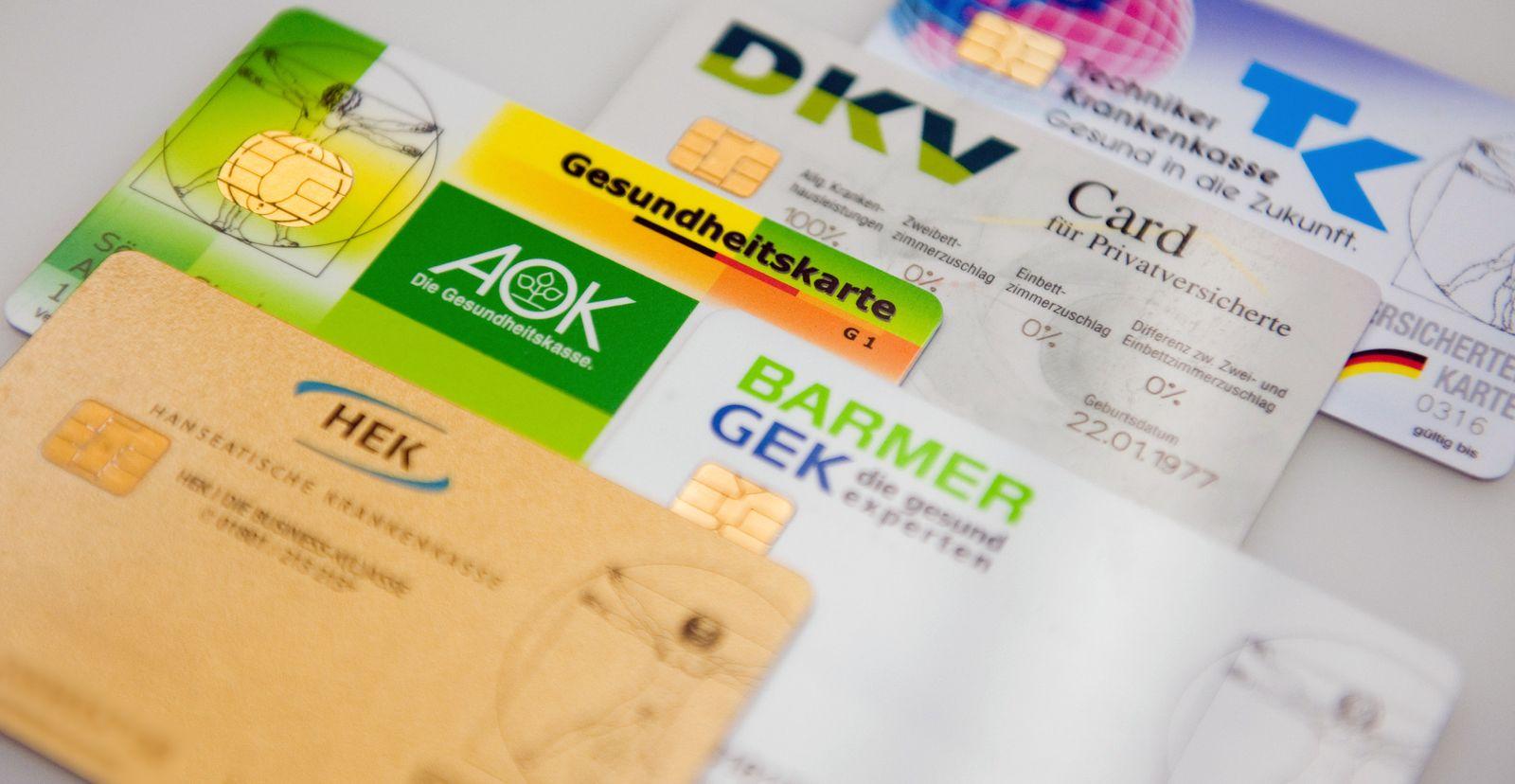 Krankenkassen / Gesundheitskarte / Krankenversicherung / Versicherten-Karten