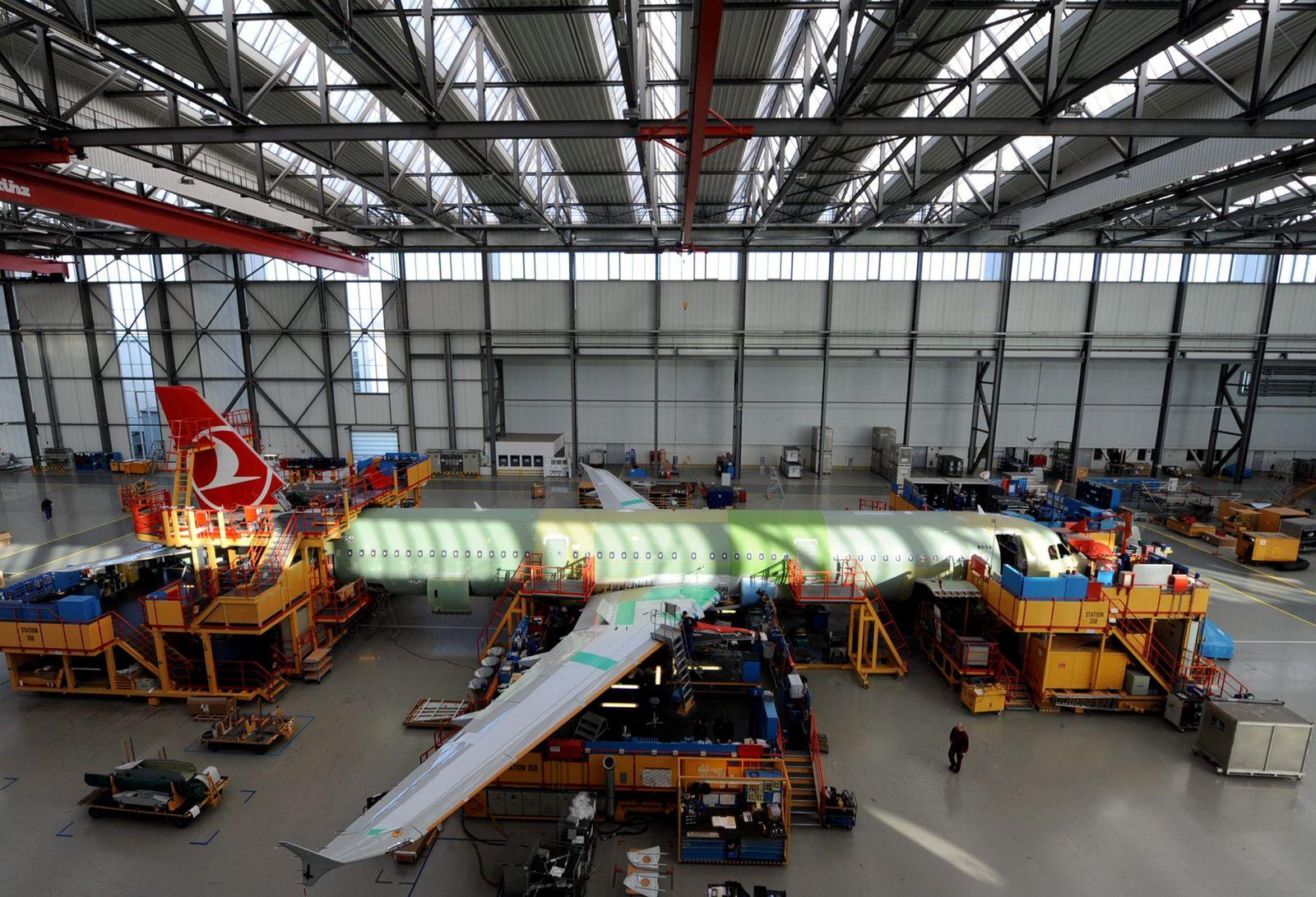 Airbus Fertigung in Hamburg