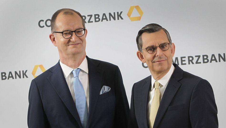 Commerzbank-Manager Zielke (l.) und Schmittmann