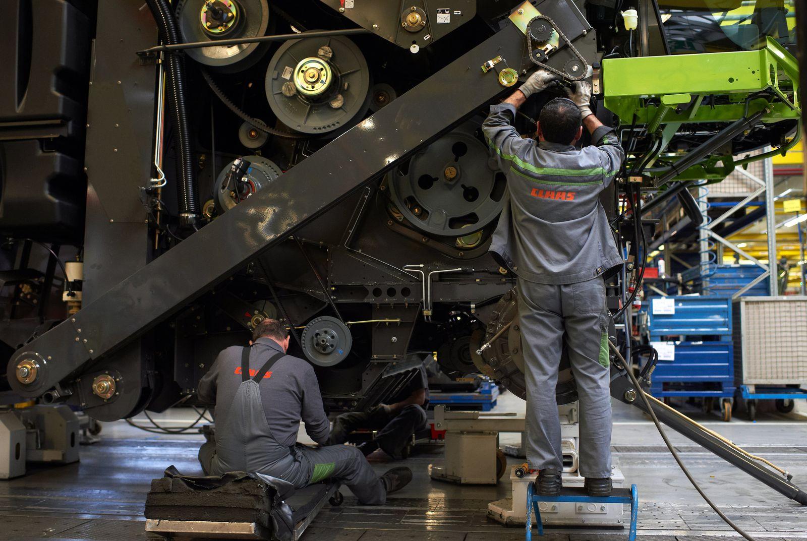 Mitarbeiter des Landmaschinenherstellers