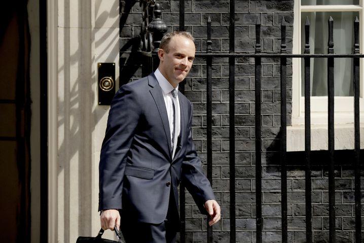 Dominic Raab nach seinem Besuch bei Regierungschefin May
