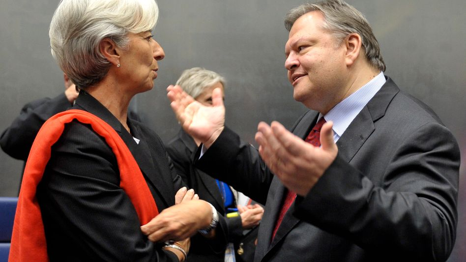 IWF-Chefin Lagarde, griechischer Finanzminister Venizelos: Streit um Rettungspaket
