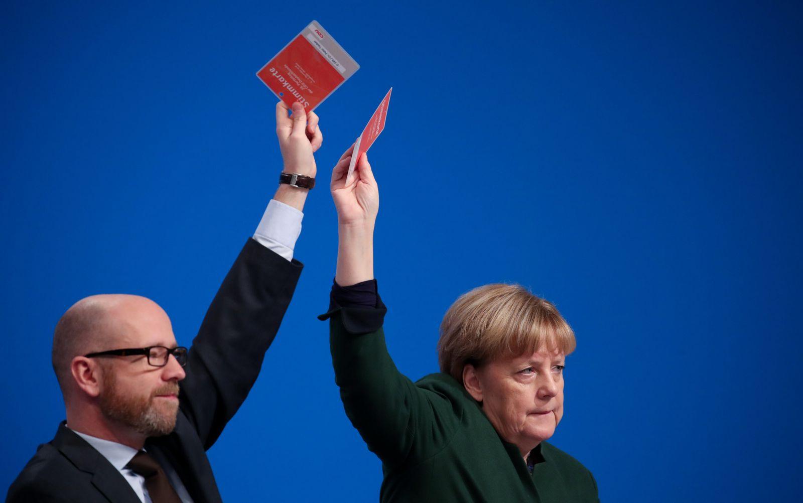 CDU-Bundesparteitag tauber merkel