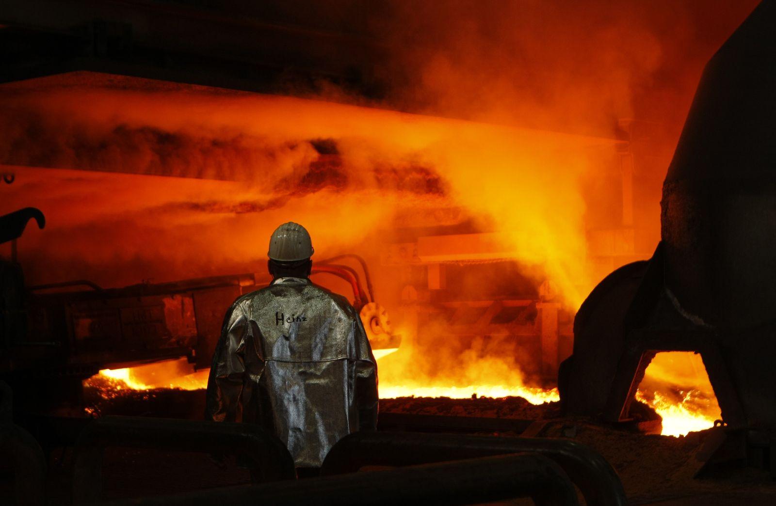 Stahl-Arbeiter / ThyssenKrupp / Konjunktur