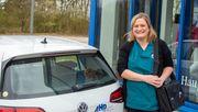 Stefanie Greger, 35, ambulante Krankenpflegerin, fährt weiterhin zu ihren Patienten