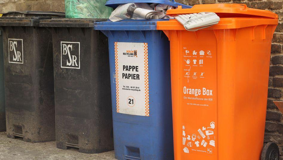 """""""Orange Box"""" in Berlin: Vorbild für die bundesweite Wertstofftonne?"""