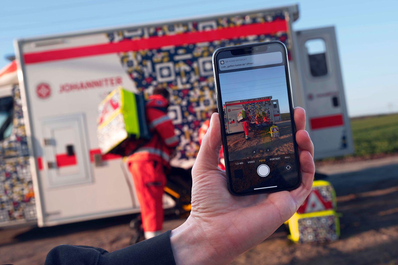 Projekt:QR-Code an Rettungswagen