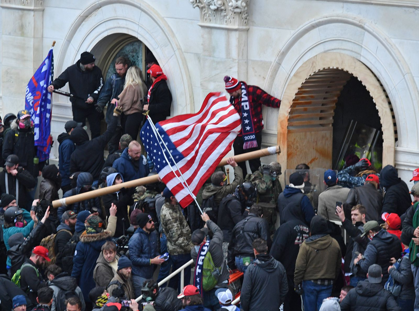 January 6, 2021, Washington, District of Columbia, USA: As thousands of pro- Trump supporters rallied on January 6, 202