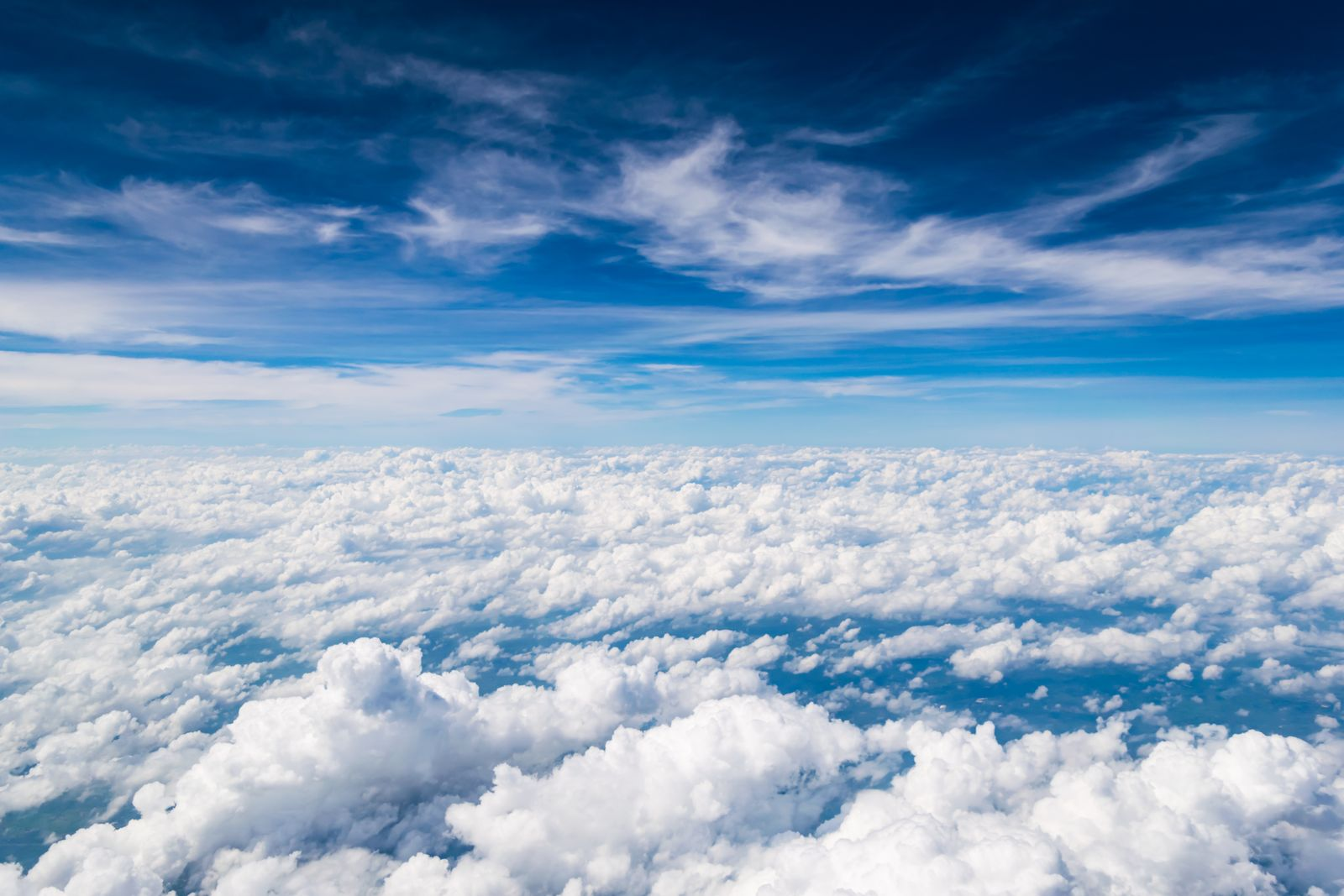 Cloud texture and blue sky