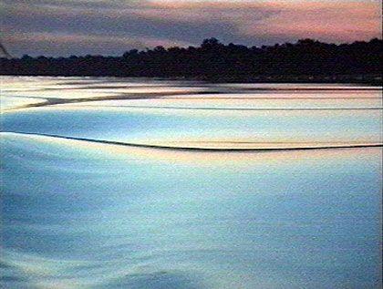 So spektakulär wie faszinierend: Sonnenuntergang auf dem Orinoco