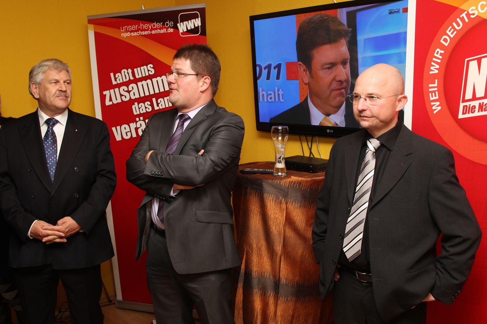 NICHT VERWENDEN NPD Wahlparty Sachsen Anhalt