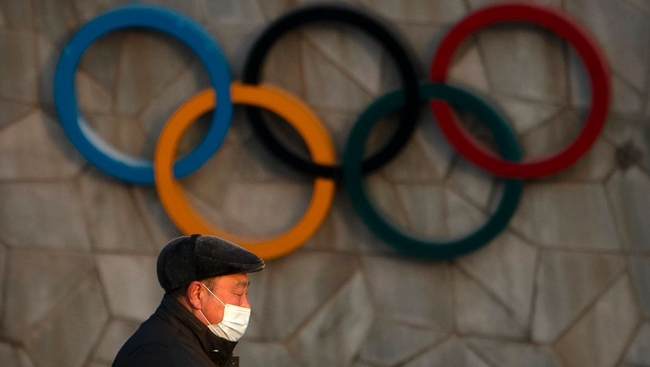 Olympische Ringe an Pekings Nationalstadion