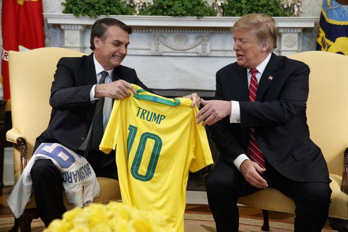 Jair Bolsonaro (links), Donald Trump