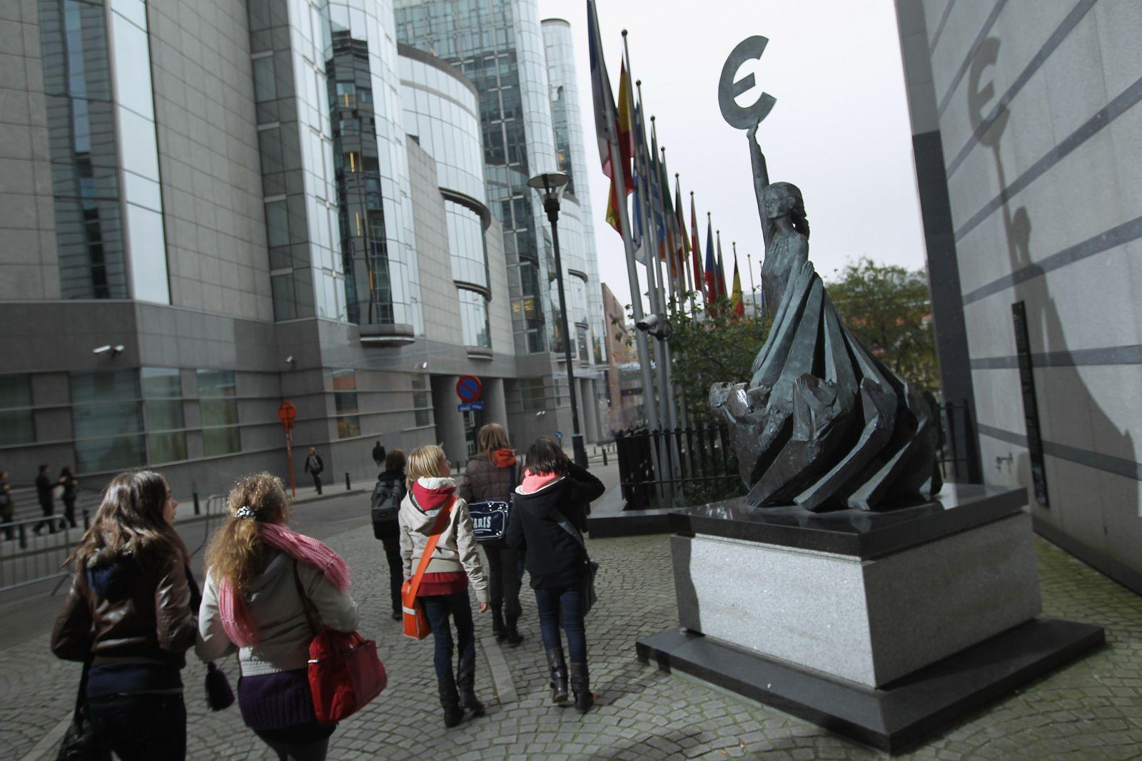 Brüssel/ Euro-Skulptur