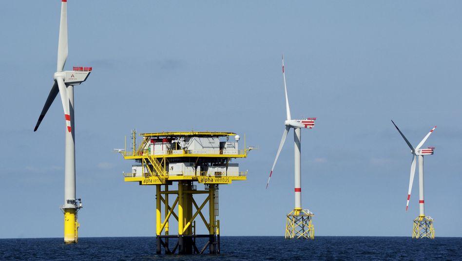 Offshore-Windpark vor Borkum in der Nordsee: Der schnelle Atomausstieg würde teuer