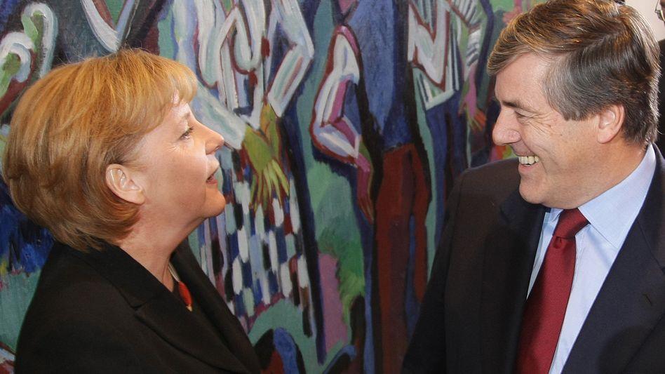 Merkel und Ackermann im Kanzleramt: Ein umstrittenes Fest zum Geburtstag